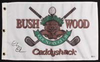 "Chevy Chase Signed ""Caddyshack"" Bushwood Country Club Pin Flag (Beckett COA) at PristineAuction.com"