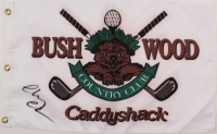 """Chevy Chase Signed """"Caddyshack"""" Bushwood Country Club Pin Flag (Beckett COA) at PristineAuction.com"""
