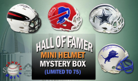 Schwartz Sports Football Hall of Famer Signed Mini Helmet Mystery Box - Series 4 (Limited to 75) at PristineAuction.com