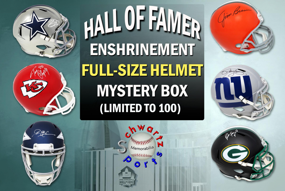 Football Hall of Famer Signed Full-Size Helmet Enshrinement Mystery Box Series 2 (Limited to 100) at PristineAuction.com