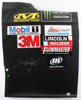 Kurt Busch Signed Race-Used Monster #41 Sheet Metal (PA COA)