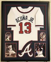 Ronald Acuna Jr. Signed 34x42 Custom Framed Jersey (JSA COA) at PristineAuction.com