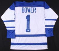 "Johnny Bower Signed Jersey Inscribed ""HOF 76"" (JSA COA) at PristineAuction.com"
