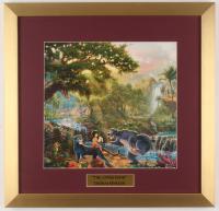 "Thomas Kinkade Walt Disney's ""The Jungle Book"" 17.5x18 Custom Framed Print"