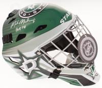 """Mike Modano Signed Dallas Stars Full-Size Goalie Mask Inscribed """"HOF 14"""" (Beckett COA)"""