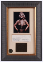 Marilyn Monroe Signed 18x26 Custom Framed Personal Bank Check Display (JSA LOA) at PristineAuction.com