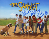 """The Sandlot"" 8x10 Photo Cast-Signed by (6) with Tom Guiry, Marty York, Shane Obedzinski, Victor DiMattia, Chauncey Leopard, & Brandon Adams with Multiple Inscriptions (MAB Hologram) at PristineAuction.com"