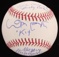 "Megan Cavanagh, Lori Petty & Ann Cusack Signed OML Baseball Inscribed ""Marla Hooch,"" ""Kit"" & ""Shirley Baker"" (MAB Hologram)"