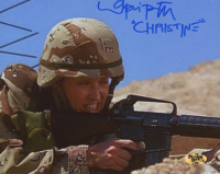 """Lori Petty Signed """"In the Army Now"""" 8x10 Photo Inscribed """"Christine"""" (MAB Hologram)"""