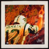 """Joe Petruccio & Joe Namath Signed """"The Promise"""" 24x24 Limited Edition Giclee on Canvas #43/69 (JSA COA & PCV COA) at PristineAuction.com"""