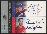 2002-03 SP Authentic Sign of the Times #GW Wayne Gretzky / Gordie Howe #18/99