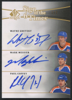 2011-12 SP Authentic Sign of the Times Sixes #SOT6OIL Wayne Gretzky / Mark Messier / Paul Coffey / Jari Kurri / Glenn Anderson / Grant Fuhr #7/7 at PristineAuction.com