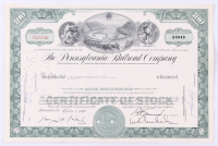 "Vintage 1961 ""The Pennsylvania Railroad Company"" (100) Shares Stock Certificate"