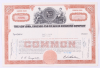 "Vintage 1957 ""The New York, Chicago and St. Louis Raildroad Company"" (25) Shares Stock Certificate at PristineAuction.com"