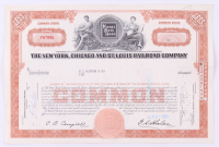 "Vintage 1961 ""The New York, Chicago and St. Louis Raildroad Company"" (10) Shares Stock Certificate at PristineAuction.com"