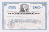 "Vintage 1939 ""The New York Central Railroad Company"" (100) Shares Stock Certificate at PristineAuction.com"