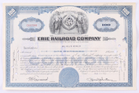 "Vintage 1952 ""Erie Railroad Company"" (100) Shares Stock Certificate at PristineAuction.com"