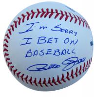 "Pete Rose Signed OML Baseball Inscribed ""I'm Sorry I Bet on Baseball"" (JSA COA)"