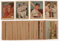 1959 Fleer Ted Williams Near Complete Set of (78/80) Baseball Cards with #70 T.Williams / J.Thorpe, #11 T.Williams / J.Foxx, #63 All-Star Record, #2 Ted's Idol Babe Ruth