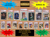 ICON AUTHENTIC  100X MYSTERY BOX SERIES 35 100+ Cards per Box at PristineAuction.com