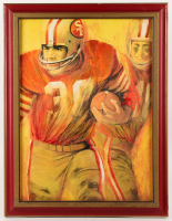 """Dave Boss """"San Francisco 49ers"""" 20x26 Custom Framed Painting (PA LOA) at PristineAuction.com"""