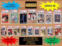 ICON AUTHENTIC  100X MYSTERY BOX SERIES 40 100+ Cards per Box at PristineAuction.com