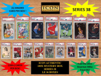 ICON AUTHENTIC  100X MYSTERY BOX SERIES 38 100+ Cards per Box at PristineAuction.com