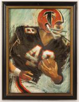 """Dave Boss """"Atlanta Falcons"""" 20x26 Custom Framed Painting (PA LOA)"""