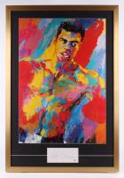 "LeRoy Neiman Signed 26x38 Custom Framed Cut Display With ""Muhammad Ali"" LeRoy Neiman Print (PSA COA)"
