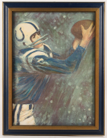 "Dave Boss ""Baltimore Colts"" 20x26 Custom Framed Painting (PA LOA)"