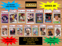 ICON AUTHENTIC  100X MYSTERY BOX SERIES 39 100+ Cards per Box at PristineAuction.com