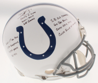 Reggie Wayne Signed Indianapolis Colts Full-Size Authentic On-Field Helmet With Multiple Inscriptions (Beckett COA)