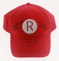 "Megan Cavanagh, Lori Petty & Ann Cusack Signed ""A League of Their Own"" Rockford Peaches Snapback Baseball Hat Inscribed ""Marla Hooch"", ""Kit"" & ""Shirley Baker"" (MAB Hologram) at PristineAuction.com"