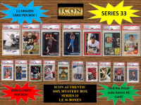 ICON AUTHENTIC  100X MYSTERY BOX SERIES 33 100+ Cards per Box at PristineAuction.com