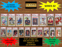 ICON AUTHENTIC  100X MYSTERY BOX SERIES 32 100+ Cards per Box at PristineAuction.com