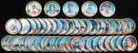 1987 Topps Coins Complete Set of (48) with #23 Cal Ripken Jr., #40 Nolan Ryan, #17 Don Mattingly, #24 Tony Gwynn, #20 Kirby Puckett