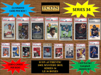 ICON AUTHENTIC  100X MYSTERY BOX SERIES 34 100+ Cards per Box at PristineAuction.com