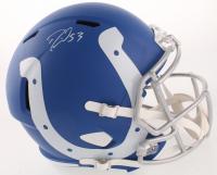 Darius Leonard Signed Indianapolis Colts Full-Size AMP Alternate Speed Helmet (JSA COA)