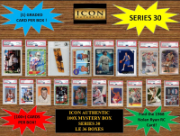 ICON AUTHENTIC  100X MYSTERY BOX SERIES 30 100+ Cards per Box at PristineAuction.com