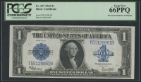 1923 $1 One Dollar Blue Seal Large Size Silver Certificate Bank Note (PCGS 66) (PPQ) at PristineAuction.com