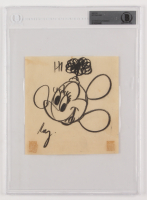 "Roy Williams Signed ""Minnie Mouse"" Hand-Drawn Sketch Inscribed ""Hi"" (BAS Encapsulated)"
