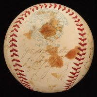 1937 New York Yankees OAL Baseball Signed by (24) with Lou Gehrig, Bill Dickey, Lefty Gomez, Tommy Henrich, Frankie Crosetti, Joe DiMaggio (JSA ALOA) at PristineAuction.com