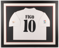 Luis Figo Signed Real Madrid 35.5x43.5 Custom Framed Jersey Display (JSA COA) at PristineAuction.com