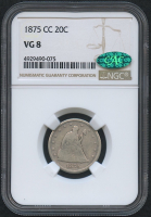 1875-CC 20¢ Seated Liberty Twenty Cents Coin (NGC VG 8) (CAC) at PristineAuction.com