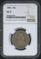1805 25¢ Draped Bust Quarter (NGC AG 3)