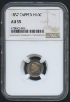 1837 H10C Capped Bust Half Dime (NGC AU 55) at PristineAuction.com