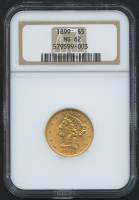1899 $5 Five Dollars Liberty Head Half Eagle Gold Coin (NGC MS 62) at PristineAuction.com