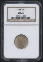 "1899 5¢ Liberty Head ""V"" Nickel (NGC MS 63) at PristineAuction.com"