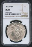 1899-O $1 Morgan Silver Dollar (NGC MS 66) at PristineAuction.com