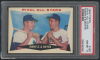 1960 Topps #160 Rival All-Stars / Mickey Mantle / Ken Boyer (PSA 8) at PristineAuction.com